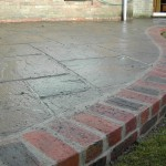 Patio with edging